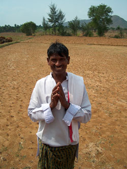 Farmer Standing in New Fields in India